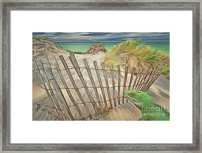 Lizards Love To Play Framed Print by L Wright