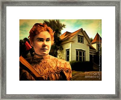 Lizzie Borden Took An Ax 20141226 With Text Framed Print by Wingsdomain Art and Photography
