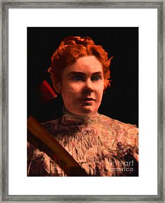 Lizzie Bordon Took An Ax - Painterly - Black Framed Print by Wingsdomain Art and Photography