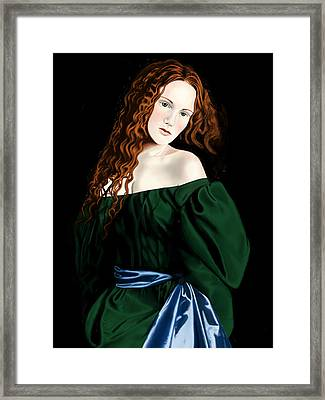 Lizzie Siddal Framed Print by Andrew Harrison