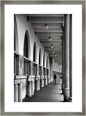 Framed Print featuring the photograph Ljubljana Archway by Graham Hawcroft pixsellpix