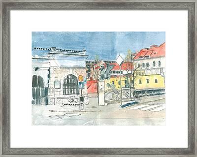 Ljubljana - Dragon's Bridge Framed Print by Marko Jezernik