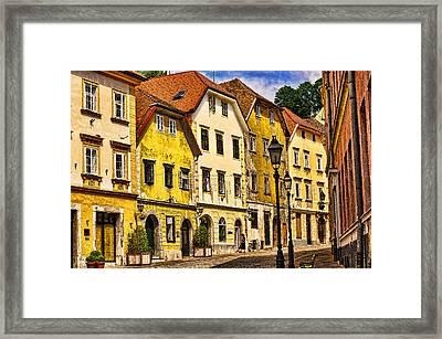 Ljubljana Landscape Framed Print by Graham Hawcroft pixsellpix