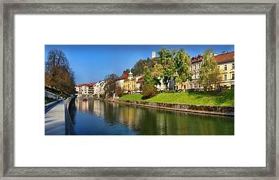 Ljubljanica Framed Print