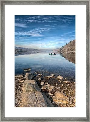 Llanberis Lake Framed Print by Adrian Evans