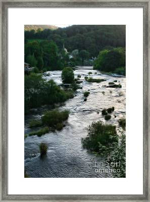 Llangollen And Maelor Country River Framed Print