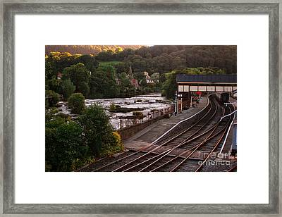 Llangollen Steam Train Station In Wales Framed Print