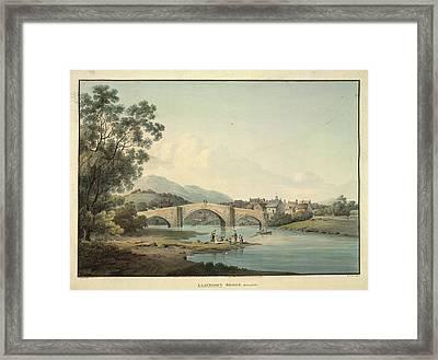 Llanroost Bridge Framed Print by British Library