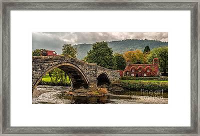 Llanrwst Cottage Framed Print by Adrian Evans