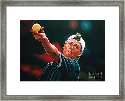 Lleyton Hewitt 2  Framed Print by Paul Meijering