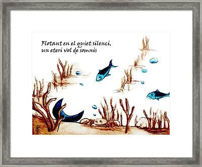 Llibre De Poesia En Llengua Catalana - Mabel Gual Framed Print