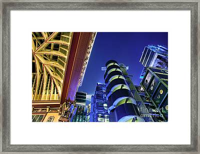 Lloyd's Of London And Leadenhall Market Framed Print