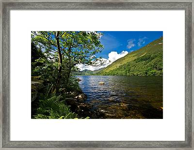 Framed Print featuring the photograph Llyn Crafnant by Stephen Taylor