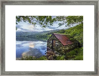 Llyn Gwynant Boathouse Framed Print