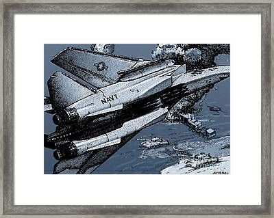 Loaded For Tank Framed Print by Joseph Juvenal
