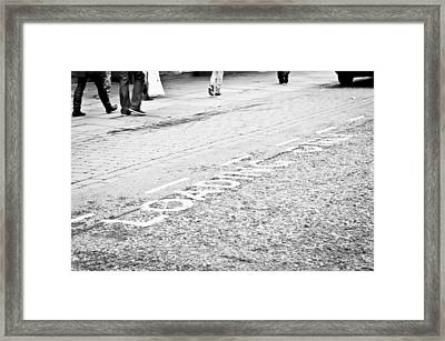 Loading Area Framed Print by Tom Gowanlock