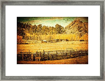 Loading Chutes At The Old Ranch Framed Print