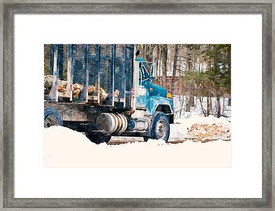 Loading Of Logs  Framed Print by Lanjee Chee