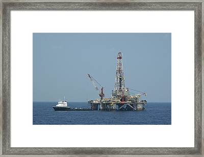 Loading On Drill Pipe Framed Print