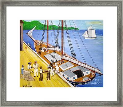 Loading The Sch. H.l.marshall At Jamaica Framed Print