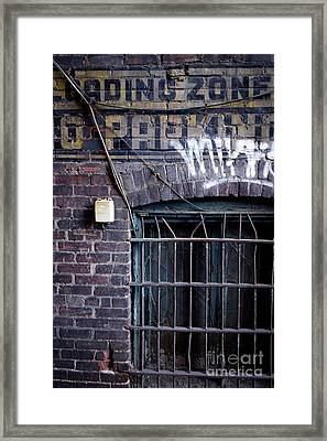 Loading Zone No Parking Framed Print