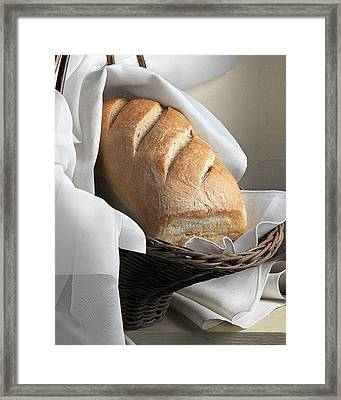 Framed Print featuring the photograph Loaf Of Bread by Krasimir Tolev