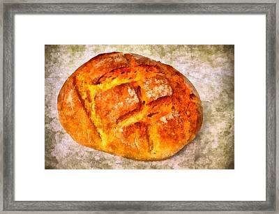 Loaf Of Bread Framed Print by Matthias Hauser