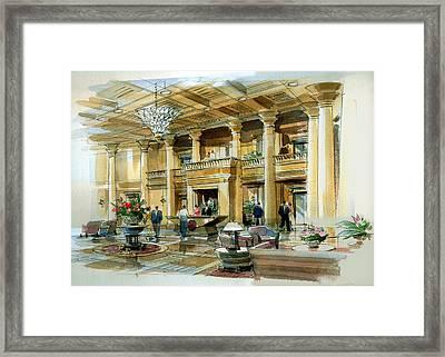 Lobby Concept Atlanta Framed Print by Jack Adams