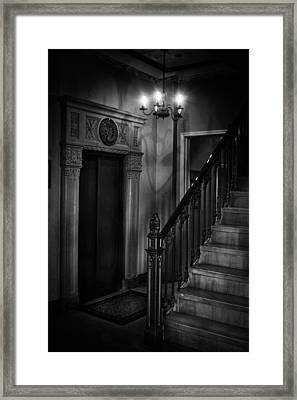 Lobby Elevator At The Villa Framed Print