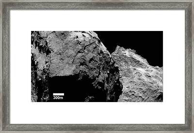 Lobes Of Comet Churyumov-gerasimenko Framed Print by European Space Agency/rosetta/mps For Osiris Team Mps/upd/lam/iaa/sso/inta/upm/dasp/ida