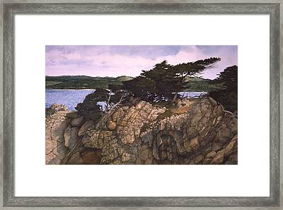 Framed Print featuring the painting Lobos Lookout by Tom Wooldridge
