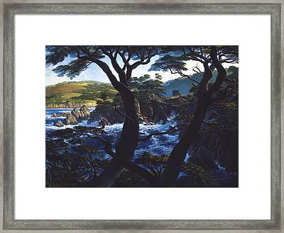 Framed Print featuring the painting Lobos Symphony by Tom Wooldridge