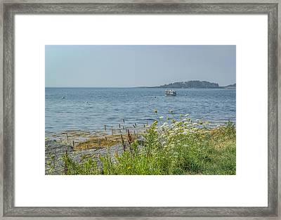 Framed Print featuring the photograph Lobster Boat At Rest by Jane Luxton