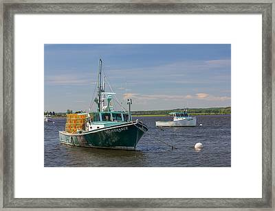 Framed Print featuring the photograph Lobster Boat Deliverance  by Kirkodd Photography Of New England
