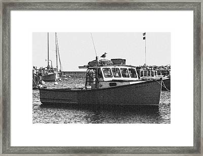 Lobster Boat Framed Print by Fred Larson