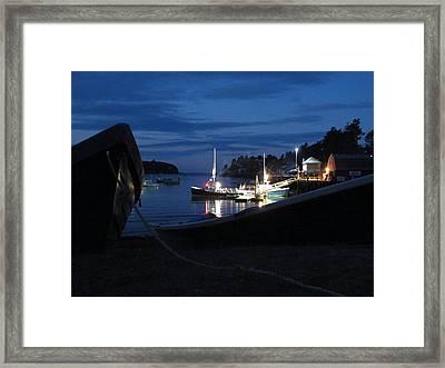 Lobster Boat Mackerel Cove Framed Print by Donnie Freeman