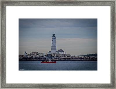 Lobster Boat Passing By Framed Print