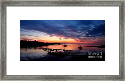Lobster Boat Sunrise 2 Framed Print by Donnie Freeman