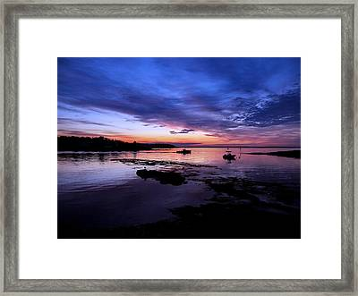 Lobster Boat Sunrise Framed Print