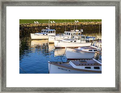 Lobster Boats - Perkins Cove -maine Framed Print
