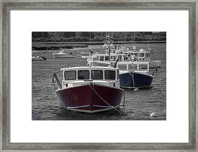 Lobster Boats Selective Color Framed Print