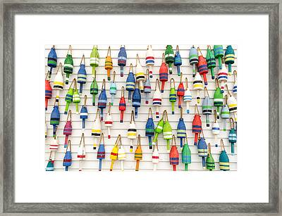 Lobster Buoys Framed Print by At Lands End Photography