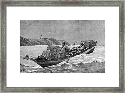 Lobster Fishing, 1894 Framed Print