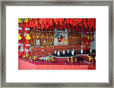 Lobster Flop Framed Print