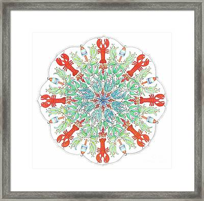 Lobster Mandala Framed Print