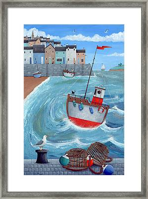 Lobster Pot Framed Print by Peter Adderley