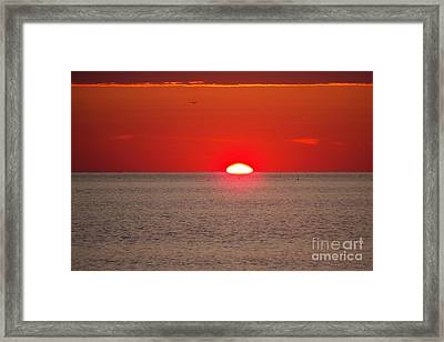 Lobster Pots Dance In The Sea  At Sunrise Framed Print by Eunice Miller