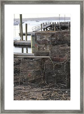 Lobster Pots Northport New York Framed Print