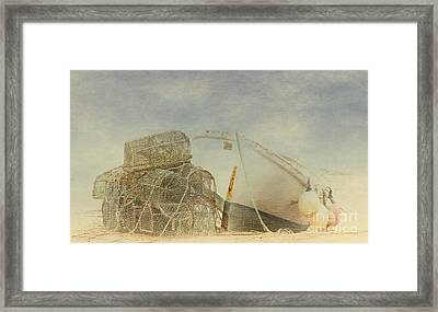 Lobster Pots. Framed Print by ShabbyChic fine art Photography