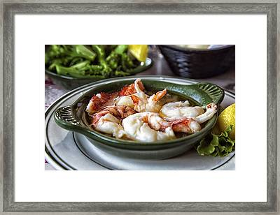 Lobster Saute Framed Print